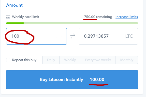 buy litecoin instantly